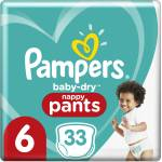 Pampers Baby Dry Pants 6 Extra Large 15+kg, 32pces.