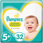 Pampers Premium Protection 5+ 32pces.